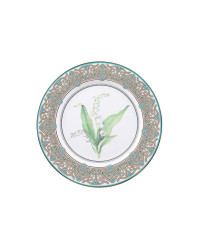 """LOMONOSOV IMPERIAL PORCELAIN DECORATIVE WALL PLATE MAY LILY 270 mm 11.6"""""""