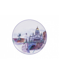 "LOMONOSOV IMPERIAL PORCELAIN DECORATIVE WALL PLATE BLUE BRIDGE 195 mm 7.7"""