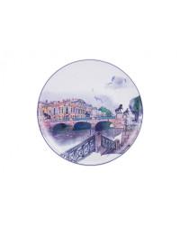 "LOMONOSOV IMPERIAL PORCELAIN DECORATIVE WALL PLATE ANICHKOV BRIDGE 195 mm 7.7"""