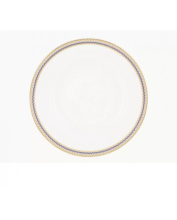 "LOMONOSOV IMPERIAL PORCELAIN DINNER PLATE RUSSIAN STYLE SMOOTH 20 cm 7.9"""