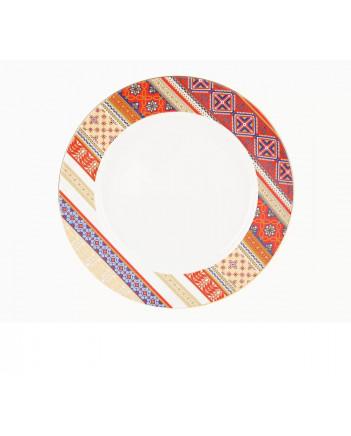 "LOMONOSOV IMPERIAL PORCELAIN DINNER PLATE RUSSIAN STYLE SMOOTH 27 cm 10.6"""