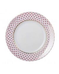 """LOMONOSOV IMPERIAL PORCELAIN DINNER PLATE RED NET DEEP 22.5 cm 8.9"""""""