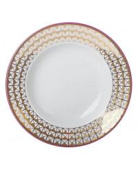 "LOMONOSOV IMPERIAL PORCELAIN DINNER PLATE MOSCOW RIVER DEEP 22.5 cm 8.9"""
