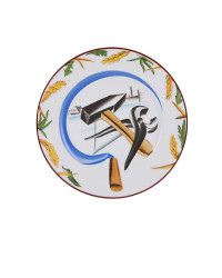 """LOMONOSOV IMPERIAL PORCELAIN DECORATIVE WALL PLATE HAMMER AND SICKLE 270 mm 11.6"""""""