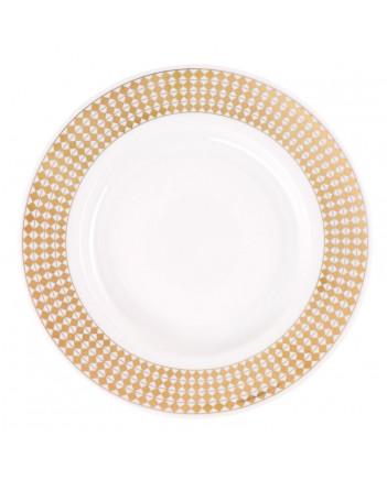 """LOMONOSOV IMPERIAL PORCELAIN DINNER PLATE WONDERLAND RHOMBUS 20 cm/7.9"""""""