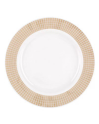 """LOMONOSOV IMPERIAL PORCELAIN DINNER PLATE WONDERLAND STRIPES 27.5 cm/10.8"""""""