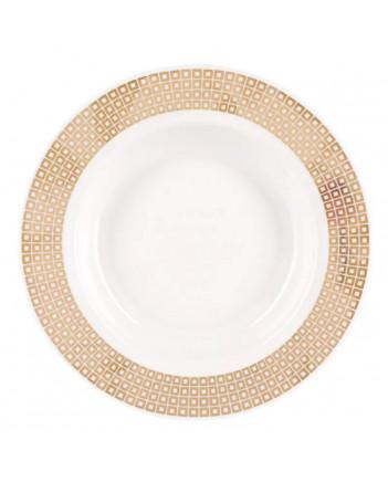 "LOMONOSOV IMPERIAL PORCELAIN DINNER PLATE WONDERLAND DEEP SQUARES 22.5 cm/8.9"""