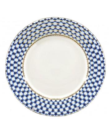 """LOMONOSOV IMPERIAL PORCELAIN DINNER PLATE COBALT NET 30 cm 11.8"""""""