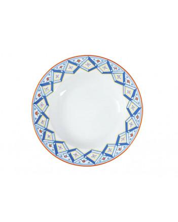 "LOMONOSOV IMPERIAL PORCELAIN DINNER PLATE ROSSO DEEP 22.5 cm 8.9"""
