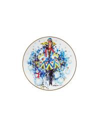 "LOMONOSOV IMPERIAL PORCELAIN DECORATIVE WALL PLATE SEASONS: WINTER 195 mm 7.7"""
