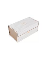 LOMONOSOV PORCELAIN FACTORY STORAGE BOX ORGANIZER FOR TEA COFFEE SETS AND SERVICES MEDIUM WHITE