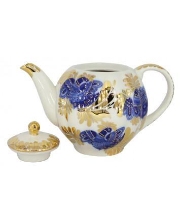 LOMONOSOV IMPERIAL PORCELAIN TEAPOT TULIP GOLDEN GARDEN 3 CUPS 600 ML 20 oz