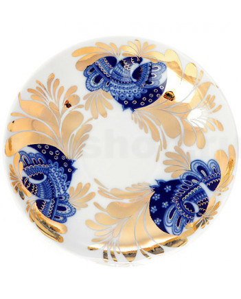 LOMONOSOV IMPERIAL PORCELAIN TEA SET SERVICE TULIP GOLDEN GARDEN  20 items