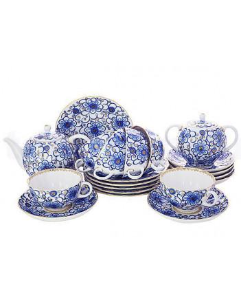 LOMONOSOV IMPERIAL PORCELAIN TEA SET SERVICE TULIP BINDWEED  20 items