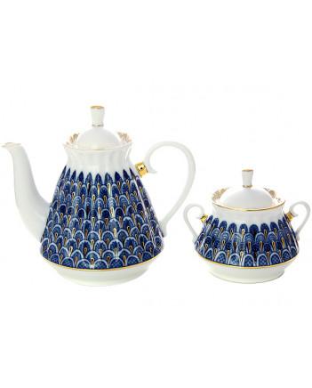 LOMONOSOV IMPERIAL PORCELAIN TEA SET SERVICE FORGET-ME-NOT 20 items