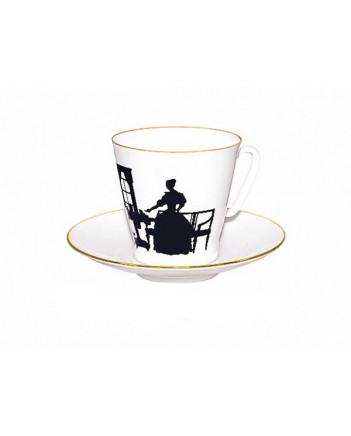 LOMONOSOV IMPERIAL BONE CHINA PORCELAIN ESPRESSO CUP BLACK COFFEE TOGETHER 80 ml/2.7 fl.oz