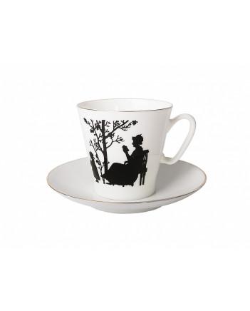 LOMONOSOV IMPERIAL BONE CHINA PORCELAIN ESPRESSO CUP BLACK COFFEE FAMILY 80 ml/2.7 fl.oz