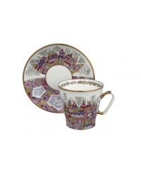 LOMONOSOV IMPERIAL BONE CHINA RARE PORCELAIN ESPRESSO CUP BLACK COFFEE PALACES 80 ml/2.7 fl.oz