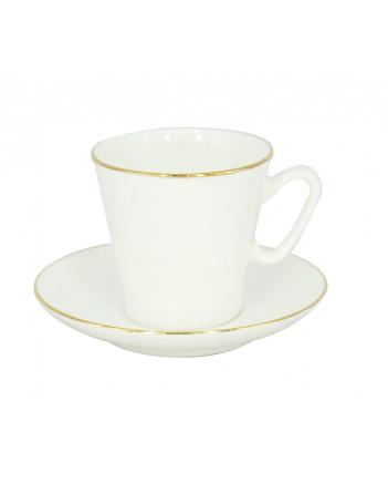 LOMONOSOV IMPERIAL BONE CHINA PORCELAIN ESPRESSO CUP BLACK COFFEE GOLDEN EDGE 80 ml/2.7 fl.oz
