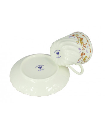 LOMONOSOV IMPERIAL BONE CHINA PORCELAIN ESPRESSO CUP TWISTED KARELIA 155 ml/5.2 fl.oz
