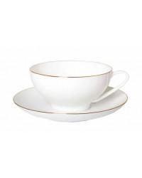 LOMONOSOV IMPERIAL BONE CHINA PORCELAIN TEA CUP DOME GOLDEN EDGE 300 ml/10.1 fl.oz