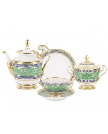LOMONOSOV IMPERIAL PORCELAIN TEA SET SERVICE GOLDEN 20 items