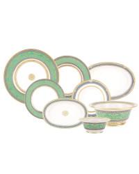 LOMONOSOV IMPERIAL PORCELAIN DINNER SET ALEXANDRIA GOLDEN 24 items