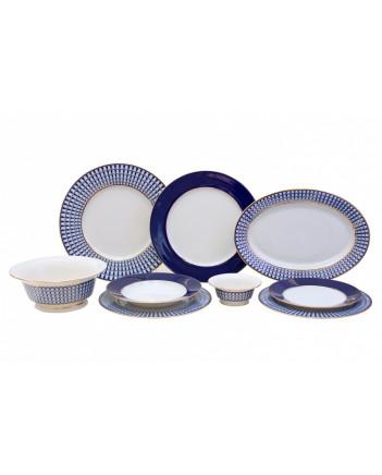 LOMONOSOV IMPERIAL PORCELAIN DINNER SET CLASSIC OF PETERSBURG 24 items