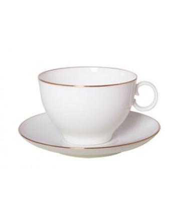 LOMONOSOV IMPERIAL BONE CHINA PORCELAIN TEA CUP APPLE GOLDEN EDGE 160 ml/5.4 fl.oz