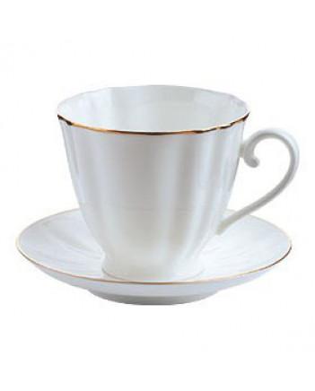 LOMONOSOV IMPERIAL BONE CHINA PORCELAIN ESPRESSO TEA CUP CARNATION GOLDEN EDGE 200 ml/6.9 fl.oz