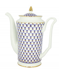 LOMONOSOV IMPERIAL BONE CHINA PORCELAIN COFFEE POT COBALT NET 690 ml 23.3 fl.oz