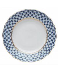 """LOMONOSOV IMPERIAL PORCELAIN DINNER PLATE COBALT NET TULIP 20 cm/7.9"""""""