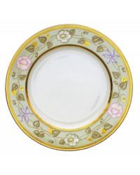 """LOMONOSOV IMPERIAL PORCELAIN DINNER PLATE JADE BACKGROUND 27 cm/10.6"""""""