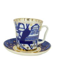 LOMONOSOV IMPERIAL PORCELAIN COFFEE LATTE HOT CHOCOLATE MUG CHURCH BELLS 360 ml/12.2 fl.oz