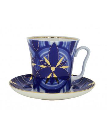 LOMONOSOV IMPERIAL PORCELAIN COFFEE LATTE HOT CHOCOLATE MUG SHINING GLORY 360 ml/12.2 fl.oz
