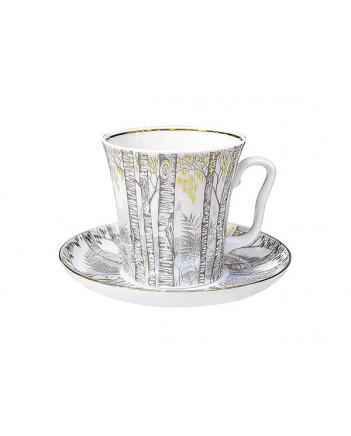 LOMONOSOV IMPERIAL PORCELAIN COFFEE LATTE HOT CHOCOLATE MUG SPRING BIRCH 360 ml/12.2 fl.oz