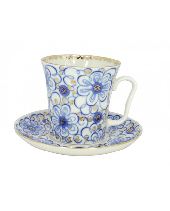 LOMONOSOV IMPERIAL PORCELAIN COFFEE LATTE HOT CHOCOLATE MUG BINDWEED 360 ml/12.2 fl.oz
