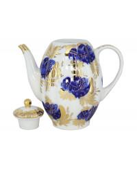 LOMONOSOV IMPERIAL PORCELAIN COFFEE POT GOLDEN GARDEN TULIP 8 Cup 40 oz/1200 ml