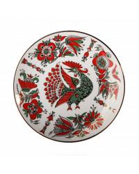 LOMONOSOV IMPERIAL PORCELAIN DECORATIVE WALL PLATE RED BIRD 195 mm/7.7