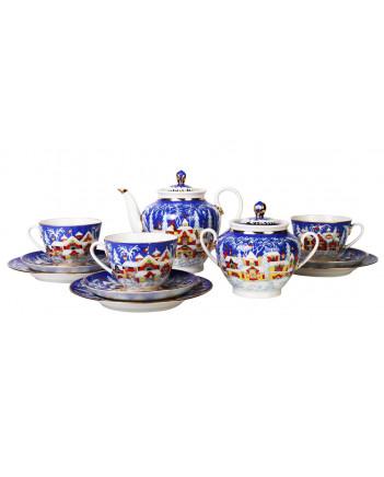 LOMONOSOV IMPERIAL PORCELAIN TEA SET SERVICE SPRING WINTER FAIRYTALE 20 items
