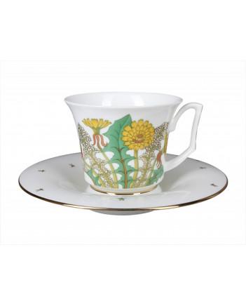 LOMONOSOV IMPERIAL BONE CHINA PORCELAIN TEA CUP YULIA BOUQUET 210 ml 7.1 fl.oz