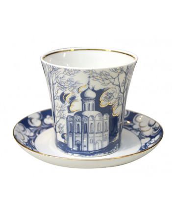LOMONOSOV IMPERIAL PORCELAIN COFFEE LATTE HOT CHOCOLATE MUG CHURCH ON NERL 360 ml/12.2 fl.oz