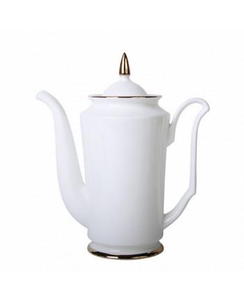 LOMONOSOV IMPERIAL BONE CHINA PORCELAIN COFFEE POT GOLDEN EDGE 690 ml 23.3 fl.oz