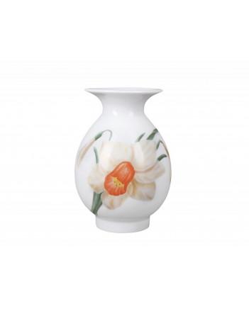 "LOMONOSOV IMPERIAL PORCELAIN FLOWER VASE BIRCH NARCISSUS 10.5 cm  4.1"""
