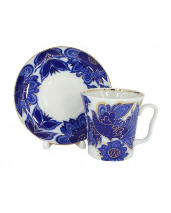 LOMONOSOV IMPERIAL PORCELAIN COFFEE LATTE HOT CHOCOLATE MUG MAGIC FIREBIRD 360 ml/12.2 fl.oz