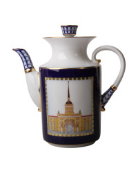 LOMONOSOV IMPERIAL PORCELAIN COFFEE POT CLASSIC OF PETERSBURG  1090 ml 37 OZ