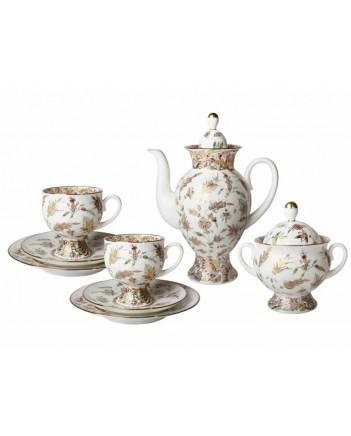 LOMONOSOV IMPERIAL BONE CHINA PORCELAIN COFFEE SET SERVICE CLASSIC-2 GOLDEN TWIGS 20 items