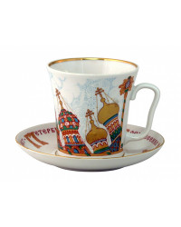 LOMONOSOV IMPERIAL PORCELAIN COFFEE LATTE HOT CHOCOLATE MUG CHURCH DOMES 360 ml/12.2 fl.oz