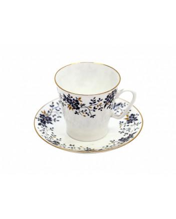 LOMONOSOV IMPERIAL BONE CHINA PORCELAIN ESPRESSO CUP BLACK COFFEE TINY BRANCHES 80 ml/2.7 fl.oz