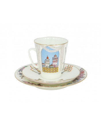 LOMONOSOV IMPERIAL BONE CHINA PORCELAIN ESPRESSO CUP SET MAY BALLET POMEO & JULIET 165 ml/5.6 fl.oz